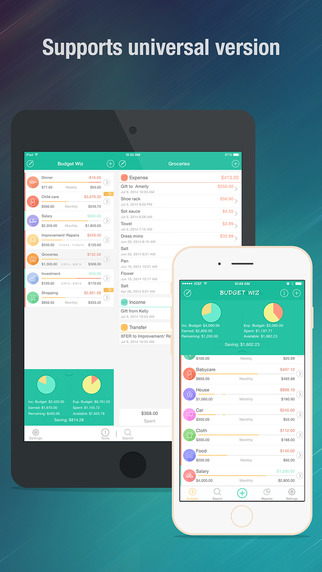 Budget Wiz – Track your Expense Income and Cash flow with Sync
