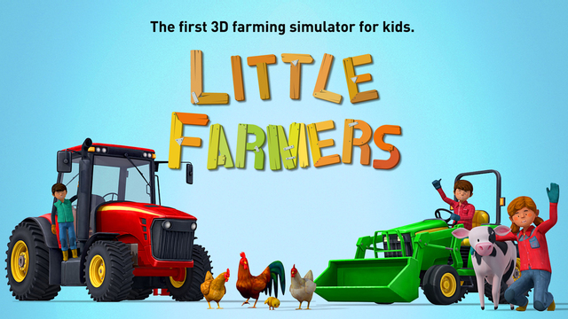 Little Farmers - Tractors Harvesters Farm Animals for Kids