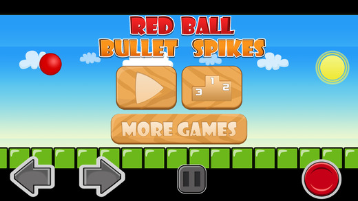 A Red Ball Bullet Escape - Avoid Bouncing Spikes