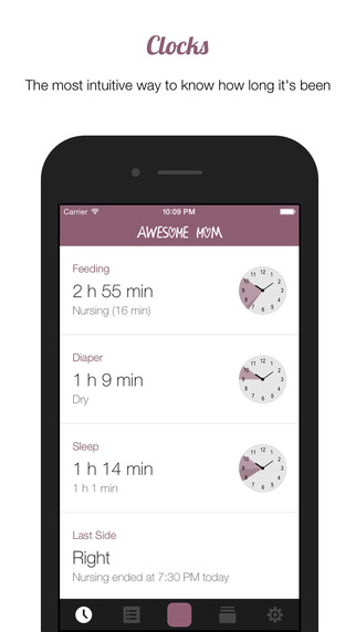 Awesome Mom - Baby Care Activity Logger