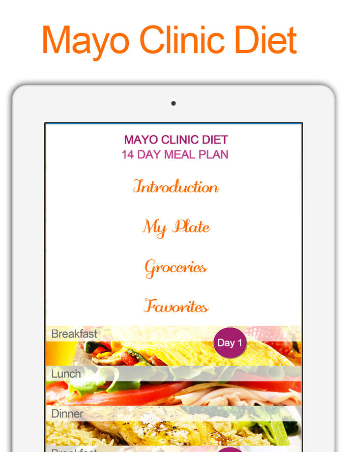 Mayo Clinic Diet  14 Day Meal Plan  iPhone Mobile Analytics and App