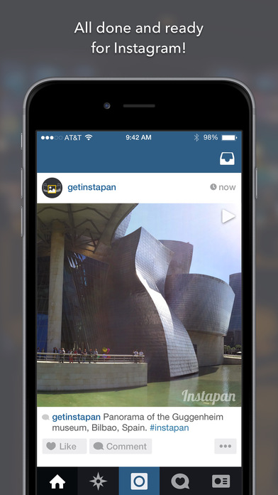 Instapan - Create panorama videos for Instagram Screenshot