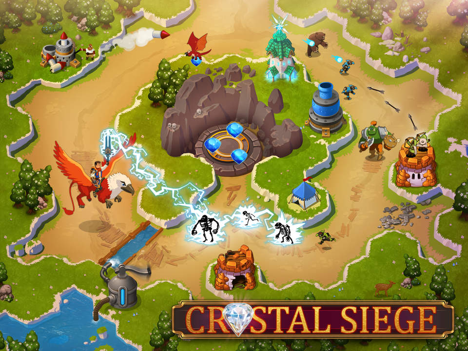 "Blending ""tower defense"" & RPG elements : ""Crystal Siege HD"" for iPad (via @toucharcade)"