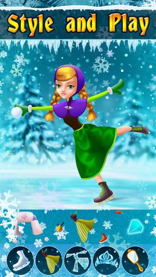 My Ice Skating Snow Princesses Dress Up Game - Advert Free App