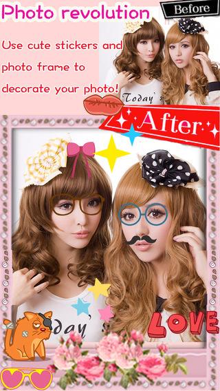 Girls Sticker Camera