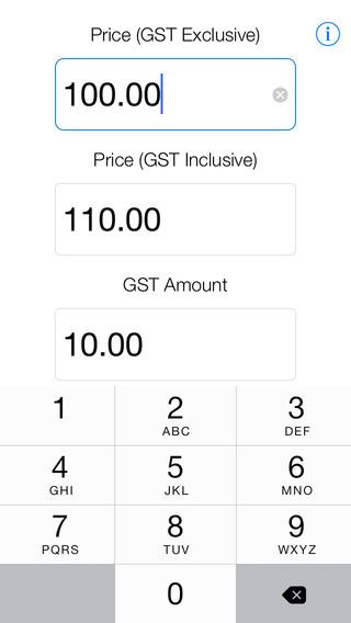 Aussie GST iPhone Screenshot 1