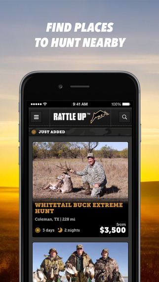 Rattle Up™—Find a place to hunt great for deer hunters