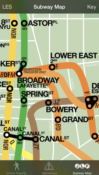 CrossWalk NYC: cross-street finder subway map and guide