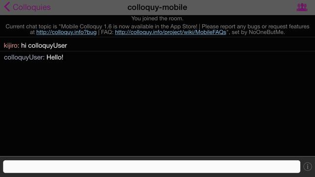 Colloquy - IRC Client Screenshots