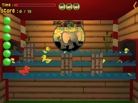 jungle animals carnival shooting for kids vip iPad Screenshot 4