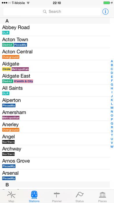 London Tube Guide - London Tube Map iPhone Screenshot 3