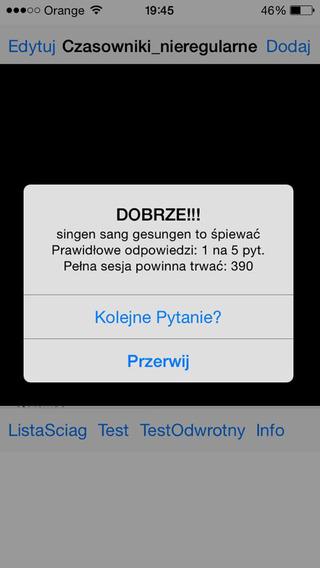 Screenshots for SCIAGA: Czasowniki GER