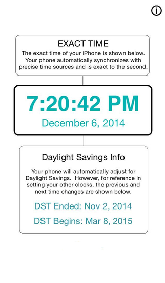 Exact Time - With DST Dates