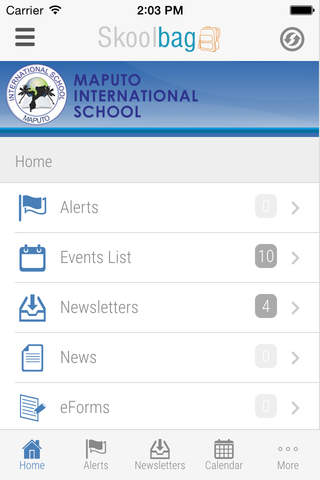 Maputo International School - Skoolbag screenshot 2