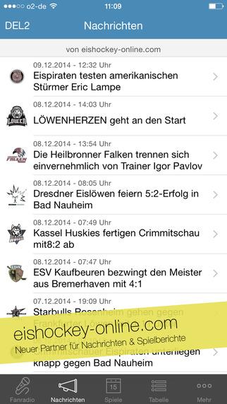Eiszeit - die Eishockey App zur DEL DEL2 und Oberliga