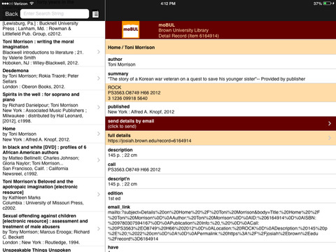 moBUL Brown Library iPad Screenshot 3