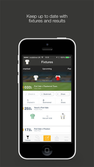 Fan App for Port Vale FC