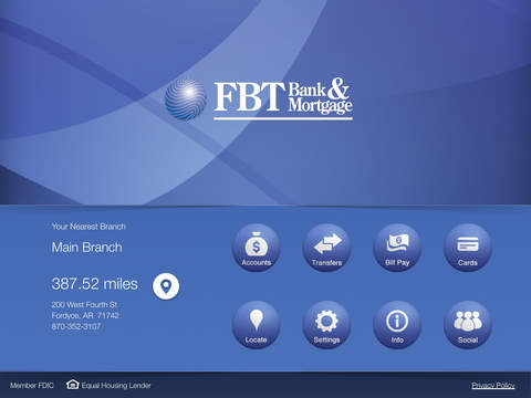 FBT Bank Mortgage for iPad