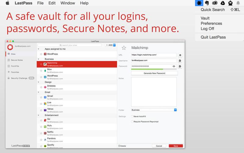 LastPass Screenshot - 1