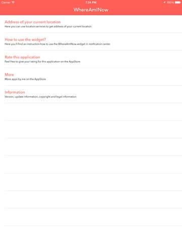 WhereAmINow - App & Widget