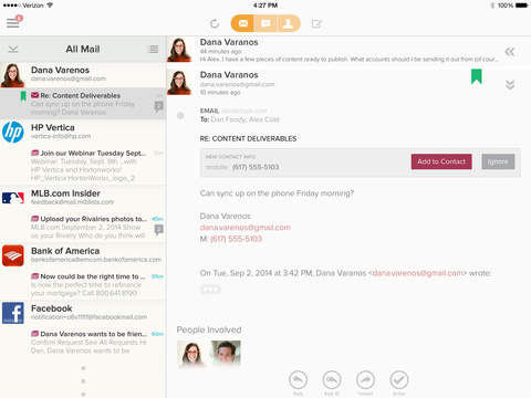玩免費生產應用APP 下載Cloze - Inbox and Contact Manager for Twitter, Facebook, LinkedIn, and Email app不用錢 硬是要APP
