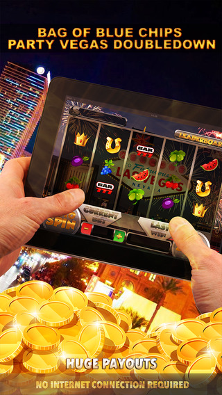 Bag of Blue Chips - Party Vegas Doubledown Slots - FREE Slot Game