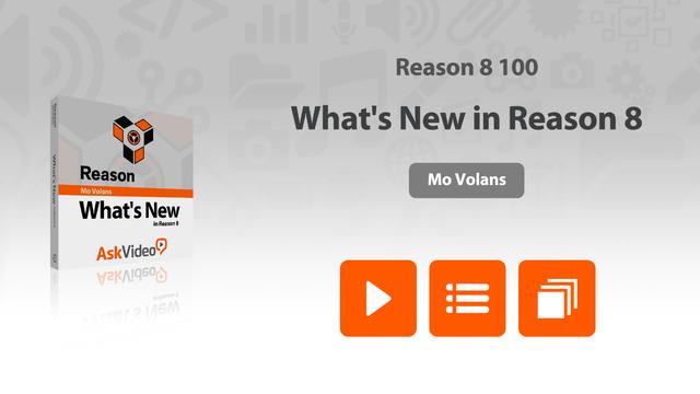 AV for Reason 100 - What's New in Reason 8