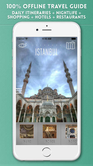 Istanbul Travel Guide with Offline City Street Maps