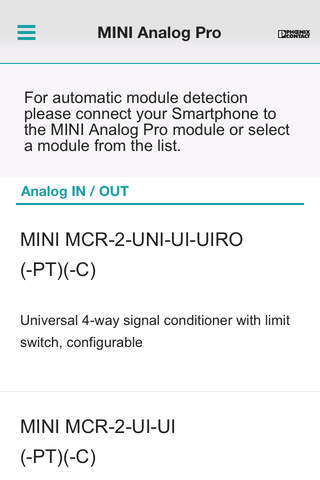 MINI Analog Pro App screenshot 1