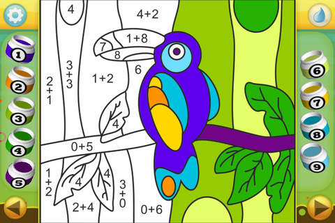 Screenshot 1 Color by Numbers - Animals - Free