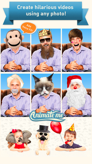 Animate Me - Make Face Swap Videos and Funny eCards with Talking Heads and Quotes