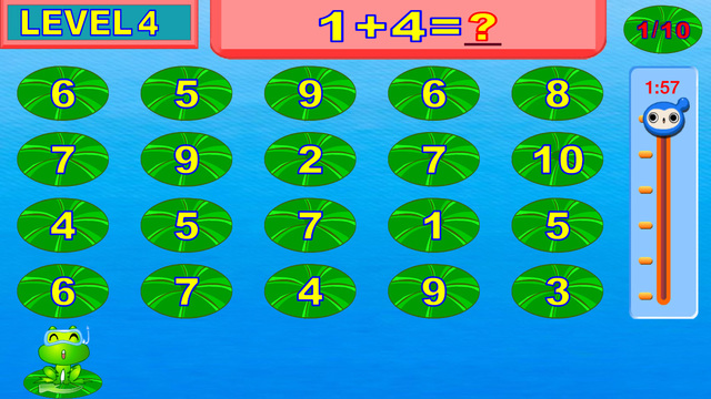 Easy learning addition - Smart frog kids math