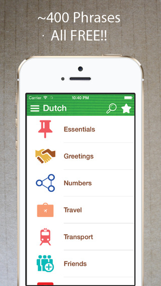 Learn Dutch - Phrasebook for Travel ・Study ・ Business - free offline language words phrases vocabula