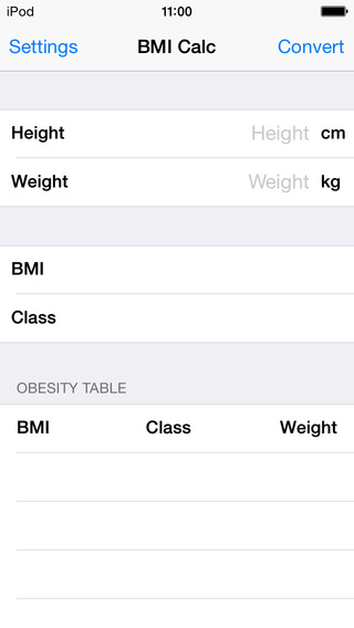 【免費健康App】BMI Calculator Table-APP點子