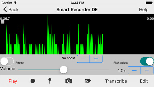 Smart Recorder DE Classic - The transcriber and voice recording app Screenshot