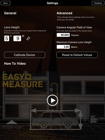 iPad Image of EasyMeasure - Measure with your Camera!