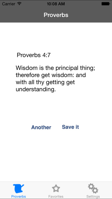 ProverbsApp – Memorize the verses of Proverbs iPhone Screenshot 1