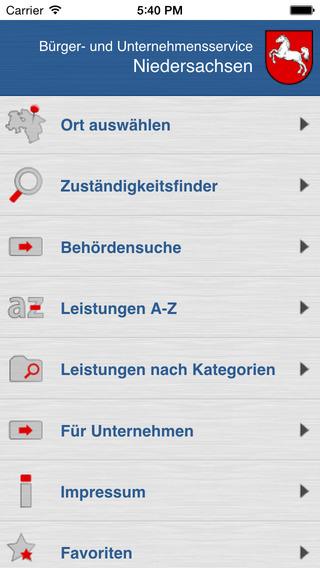 Bürger- und Unternehmensservice BUS Niedersachsen