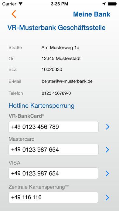vr.de Suche iPhone Screenshot 2