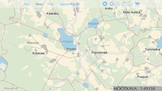 Maa-ameti WMS kaart