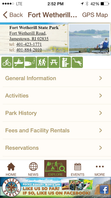 The Official Rhode Island State Parks Great Outdoors - Pocket Ranger™ iPhone Screenshot 5