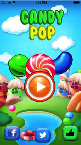 Candy Pop Mania Blitz-The best Match 3 puzzel game for kids and girls