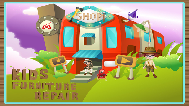 Kids Furniture Repair Shop – Fix the house furniture in this carpenter game for little kids