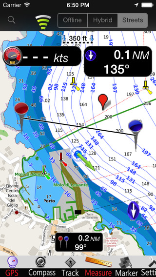 Giglio Island GPS Nautical charts