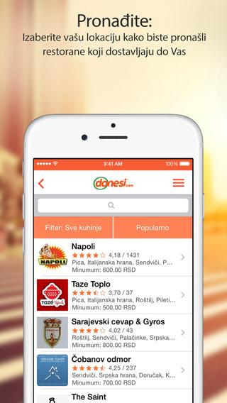 Donesi - Dostava hrane svi najbolji restorani u gradu