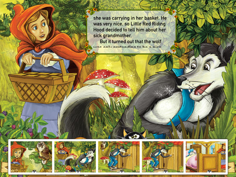 Red Little Riding Hood Interactive Fairy Tale iPad Screenshot 3