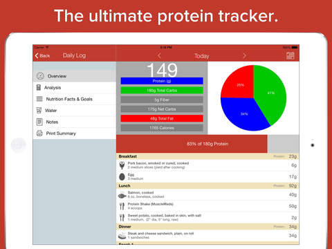 Bulk Up Protein Tracker HD - high protein diet counter to gain muscle build strength