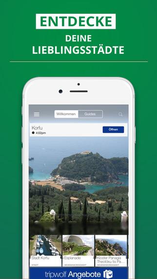 Korfu - dein Reiseführer mit Offline Karte von tripwolf Guide für Sehenswürdigkeiten Touren und Hote
