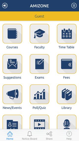 Amity University iPhone Screenshot 2