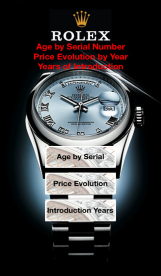 Rolex Price and Age by Serial Reference